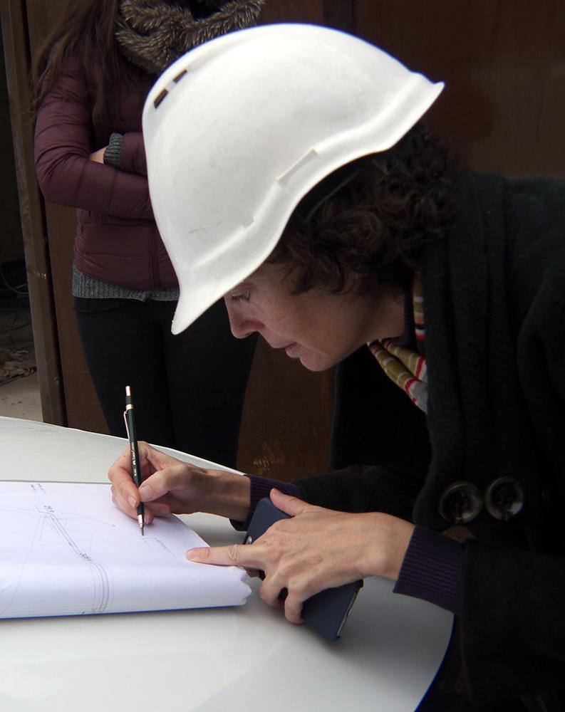 El arquitecto dibuja su obra